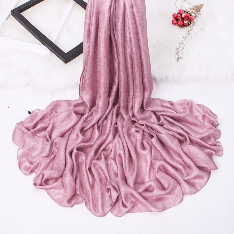 2018 Summer Brand Women Fashion Plain Linen Silk   Scarf   Solid Soft Shawls Female Long   Scarves     Wraps   Pashmina Bandanas Hijab Sjaal