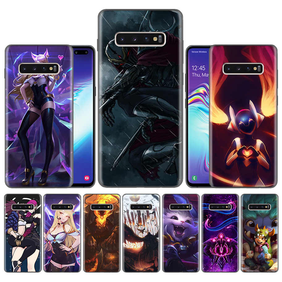 Fundas Caso Carcaça para Samsung Galaxy S10 S9 S8 Plus 5G A30 A50 A70 A40 A20 Nota 8 9 10 cobre Carcaça de League of Legends lol