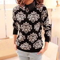 Winter Autumn Fashion Women Sweater Casual Floral Slim Knitted Pullover Tops Blusas Femininas 2017