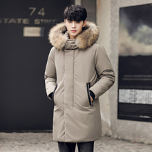 цены b new High-quality Men down jacket Winter Thick Warm Coat Parka with Fur Collar Fashion Jackets men Parkas plus size 3XL