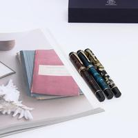 Moonman M600s Acrylic Fountain Pen Iridium Fine Nib Fashion Gift Writing Ink Pen with Gift Box Set For Business Office Student
