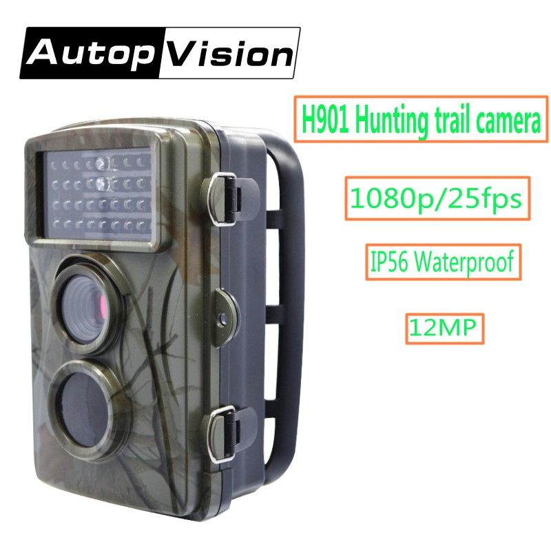 H901 Scouting Camera 1080P Infrared Waterproof Hunting Trail Camera 12MP Night Vision Outdoor Wild Animal Observation Recorder
