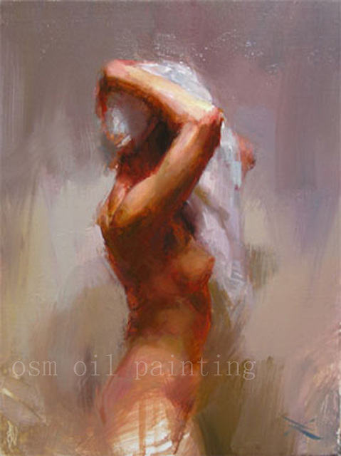 Free Shipping Handmade Wall Art Decor Sexy Gril Have A Bath Figure Oil Painting Abstract