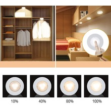 BTgeuse Wireless LED Puck Lights, Kitchen Under Cabinet Lighting with Remote Control, Battery Powered Dimmable Closet Lights