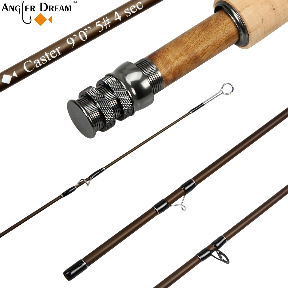 3/4 5/6 7/8WT Fly Rod 84 / 9FT Graphite IM 8 / 30T Carbon Fiber Matt Brown Fly Fishing Rod CNC Machined Aluminum Reel Seat