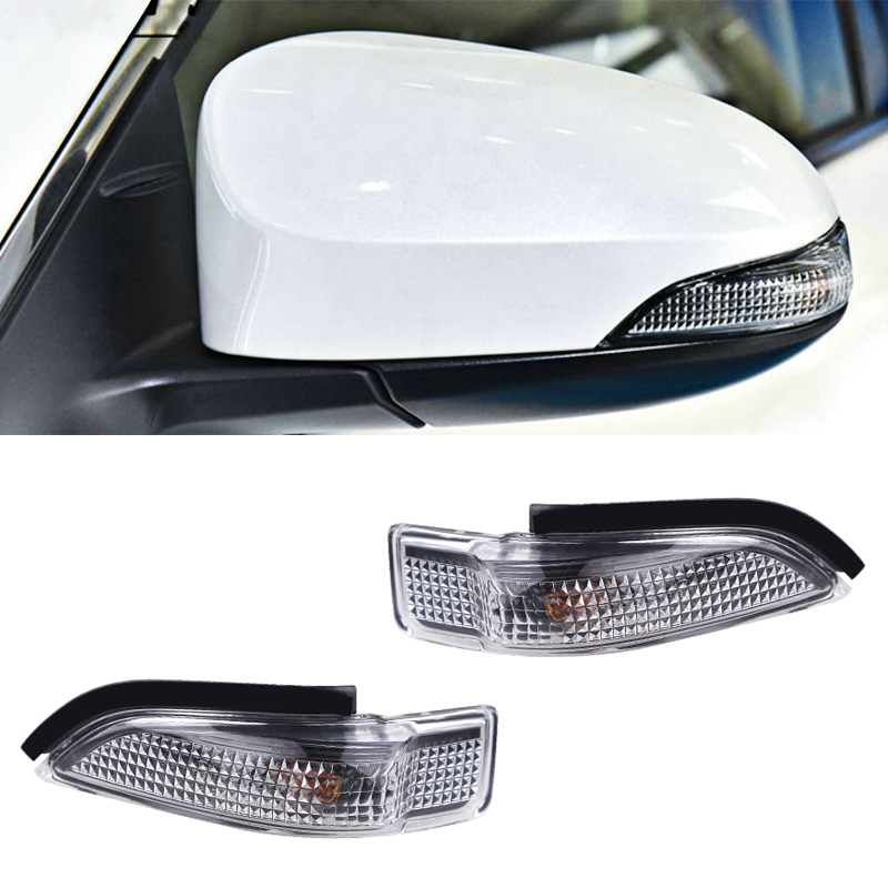2X 14-18 Camry Corolla Levin rearview mirror led amber turn signal side lights