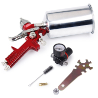 CarBole 1.4mm HVLP Gravity Feed Spray Gun W/ Air Regulator Auto Paint Basecoat Clearcoat