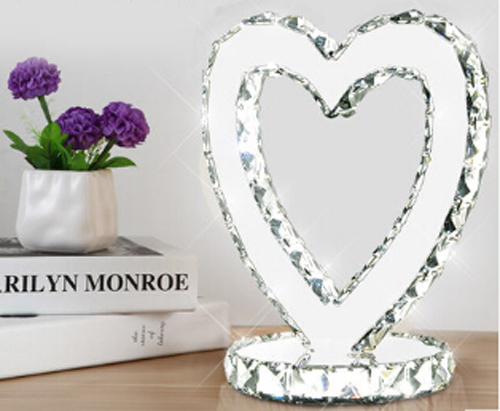 Heart Shaped Crystal Table Lamps LED Decorative Lamp