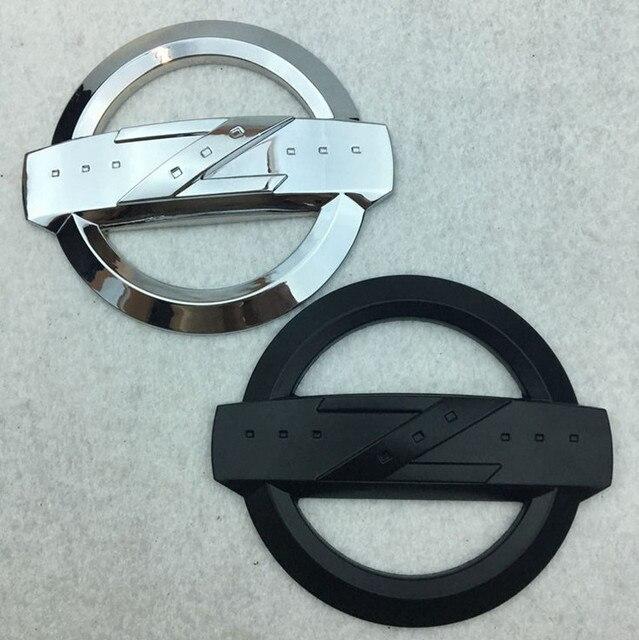 1pcs 3d Meta High Quality Silver Zinc Alloy Z Symbol Car Front Rear