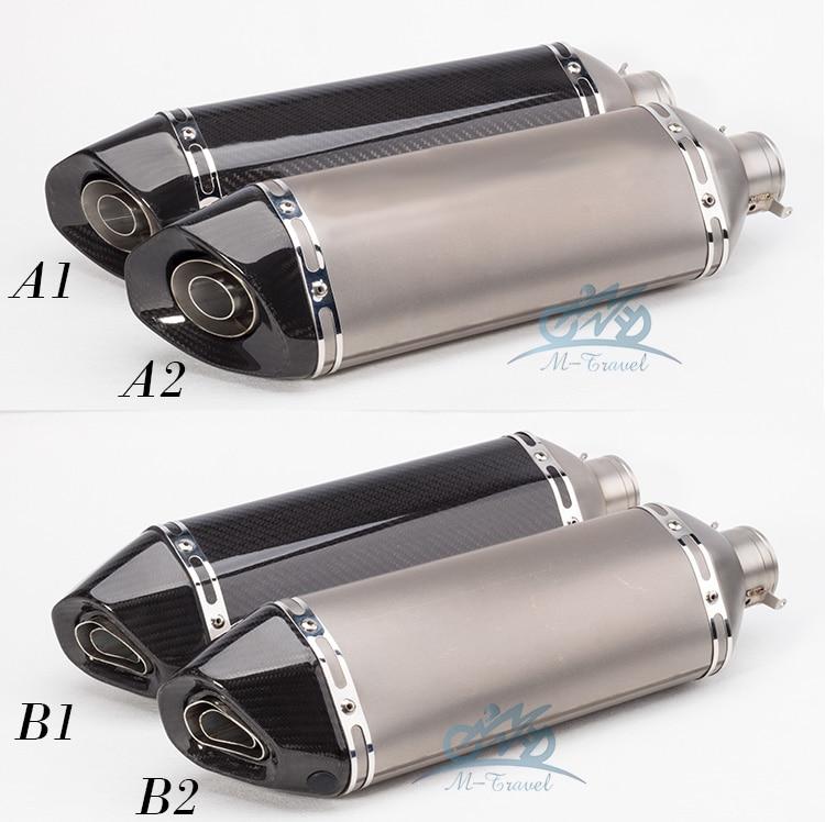 мотоцикл глушитель 36-51 мм универсальный выхлопной z900 z800 для gsxr750 er6n cbr500 Дюк 690 848 Эво и YZF-R1 и R6 R3 с Р25 MT03