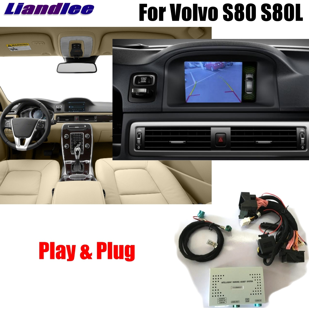 Liandlee Car Original Screen Update System For Volvo S80 2012 2013 2014 Rear Reverse Parking font