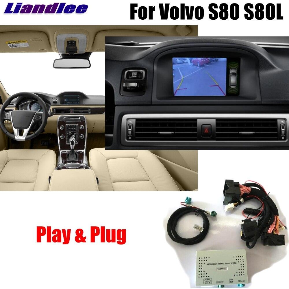 Sistema de Atualização De Tela Original Do Carro Para A Volvo S80 Liandlee 2012 2013 2014 Rear Câmera Reversa Estacionamento Exibição Decodificador Digital Plus