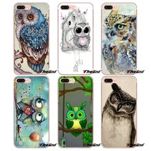 Voor iPhone X 4 4 S 5 5 S 5C SE 6 6 S 7 8 Plus Samsung Galaxy J1 J3 J5 J7 A3 A5 2016 2017 Meerdere Mooie Cartoon Uilen Glossy Covers(China)