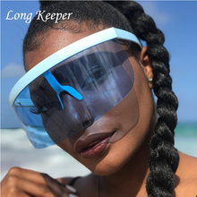 2018 New Sexy Oversized Shield Visor Sunglasses Women New De