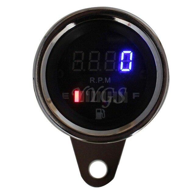 Universal 2 In 1 Motorcycle ATV 12V LED Digital Speedometer Tachometer + Fuel Oil Lever Gauge 2 Function Motorbike Instrument