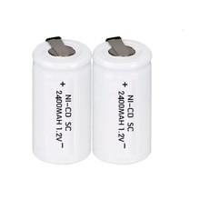 12PCS/lot JNKXIXI  Sub C SC 1.2V 2400mAh Ni-Cd Ni Cd Rechargeable Battery Batteries White color Free shipping