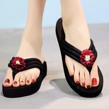 YOUYEDIAN Для женщин Летнее богемное пляжное обувь на застежках с кнопками; женские вьетнамки на нескользящей подошве; шлепанцы на платформе; пляжная обувь для прогулок треккинг# g40
