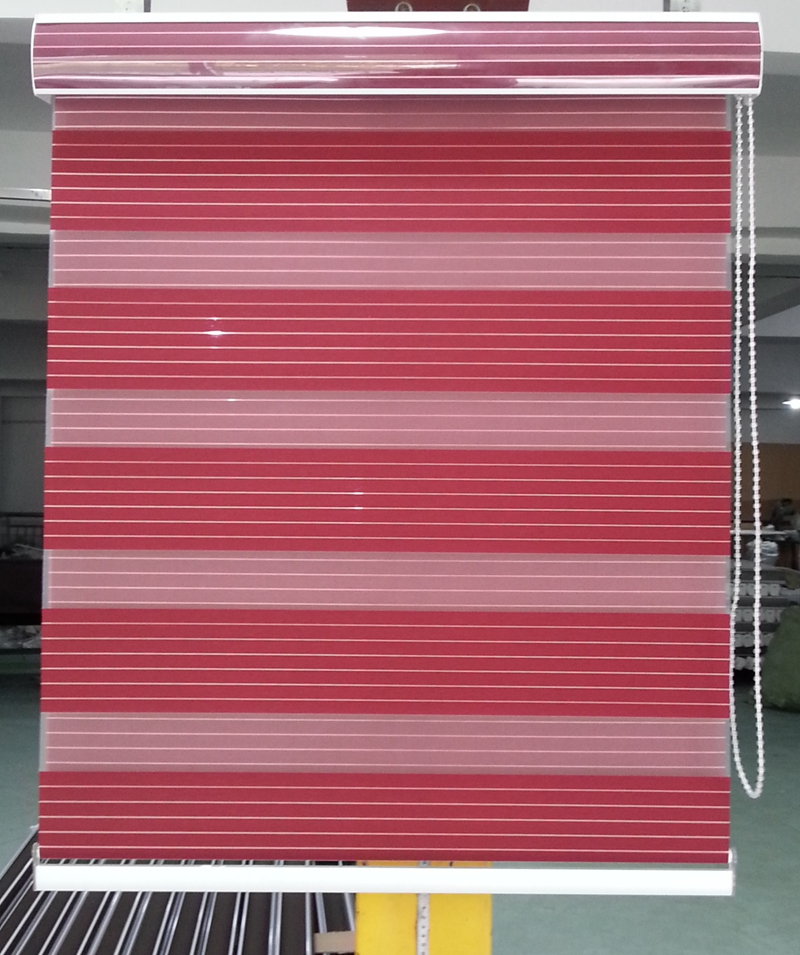 Customized Shade 100% Polyester Translucent Roller Zebra Blinds in ...