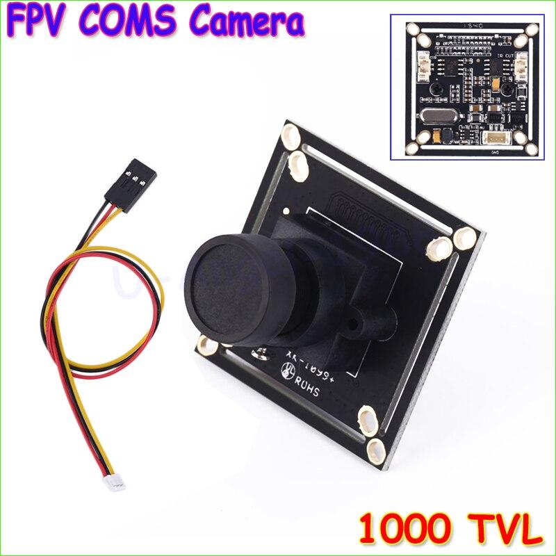 Wholesale 1pcs 1000 TVL FPV HD COMS Camera 2.8mm Wide Angle Lens for Multicopters NTSC PAL Dropship dalrc 800tvl fpv coms camera 2 5mm 120 degree lens 1 3 inch camera