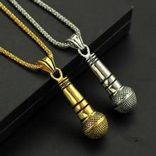 Модный стиль, лучший друг, ожерелье с микрофоном и подвеской, для мужчин/женщин, сплав, золотой цвет, серебряный цвет, ювелирное изделие в стиле рок, хип-хоп, цепочка, Colar