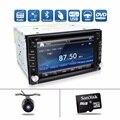 Car Auto 2 DIN Car DVD Player GPS Rádio Duplo Estéreo Em Traço MP3 Câmera de estacionamento HD 2DIN TV Rádio Unidade de Cabeça CD AUX De Áudio E Vídeo