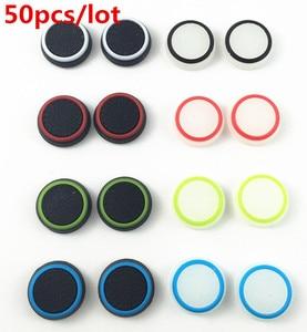 Image 3 - 50pcs סיליקון אנלוגי בקר אגודל מקל אוחז כובע כיסוי גריפ עבור Sony לשחק תחנת 4 PS4 PS3 Xbox אחד xbox 360 Thumbsticks