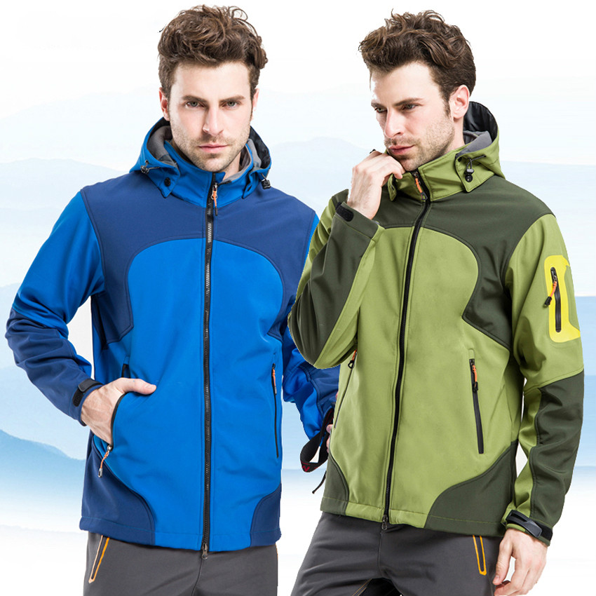 Men's Winter Outdoor Sports Water Repellent Thermal Jackets Warm Windproof Camping Hiking Inside Fleece Brand Male Clothing