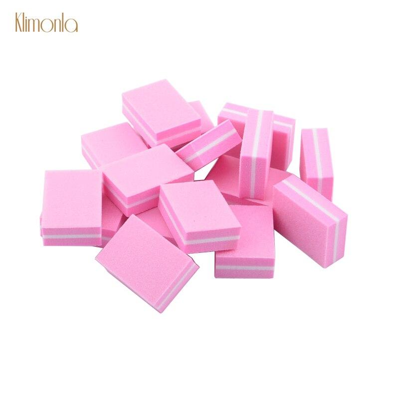 Wholesales 500pcs lot Mini Sponge Nail File Double Side Washable Nail Polishing Block Cuticle Remover Nail
