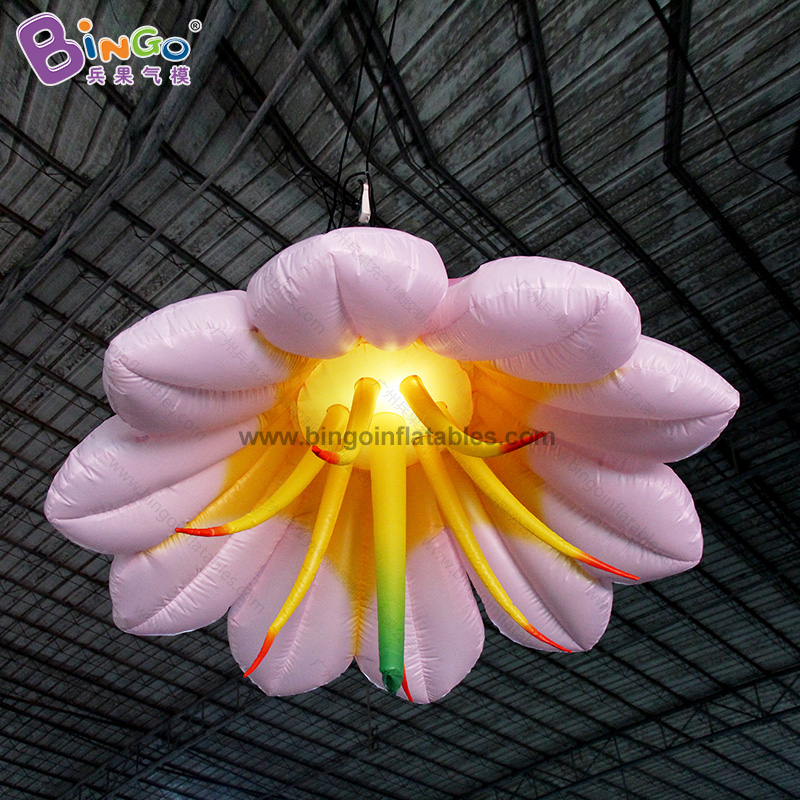 Customized 2m Diameters Inflatable Lily Flower / Giant Inflatable Flower Decoration Toys