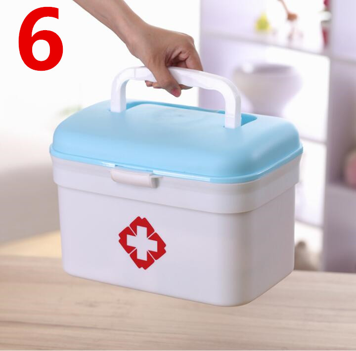2018 NEW Multi-functional plastic storage Household children's medicine Multi-layer first aid Portable medicine box multi function aluminum plastic storage box silver
