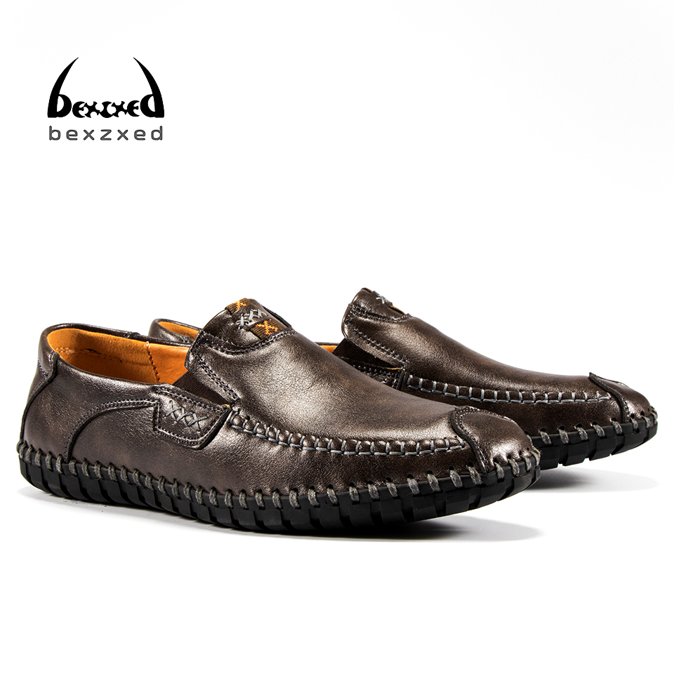 Bexzxed Spring Summer Top brand men Moccasins Shoes Genuine Leather men Flat Shoes Casual Loafers Slip On Driving shoes 2015 new spring and summer british top fashion leisure driving full grain embossed genuine leather slip on men s loafers shoes