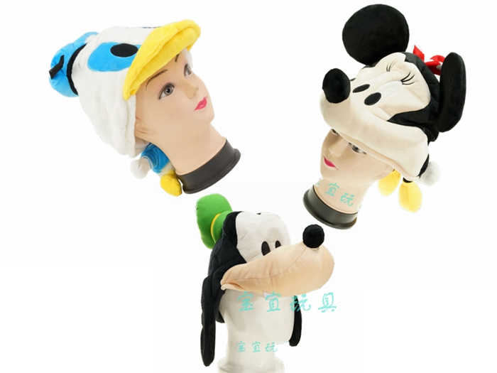 Rapture Minnie Donald Goofy Cartoon Cap Cute Fluffy Animal Caps Soft Winter Warm Scarf Earmuff Plush Hats For Kids Adult Gift New Rich And Magnificent
