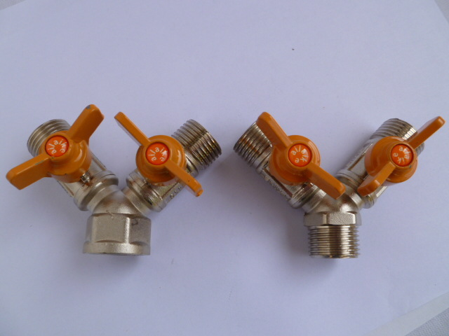 Vidric All Copper Thick Gas Valve Three-way Valve 4 Points Inside The Wire Outside The Brass Gas Valve Natural Gas Switch Ball V