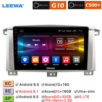 LEEWA 9 Android 8.1 8 Core/DDR3 2G/32G/Support 4G LTE Car Media Player With GPS For Toyota Land Cruiser 100 2005 2007
