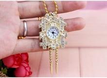 Лидер продаж; модные бронза антиквариат дом дизайн карманные часы ожерелье цветы девушка ms. Костюмы аксессуары карманные часы