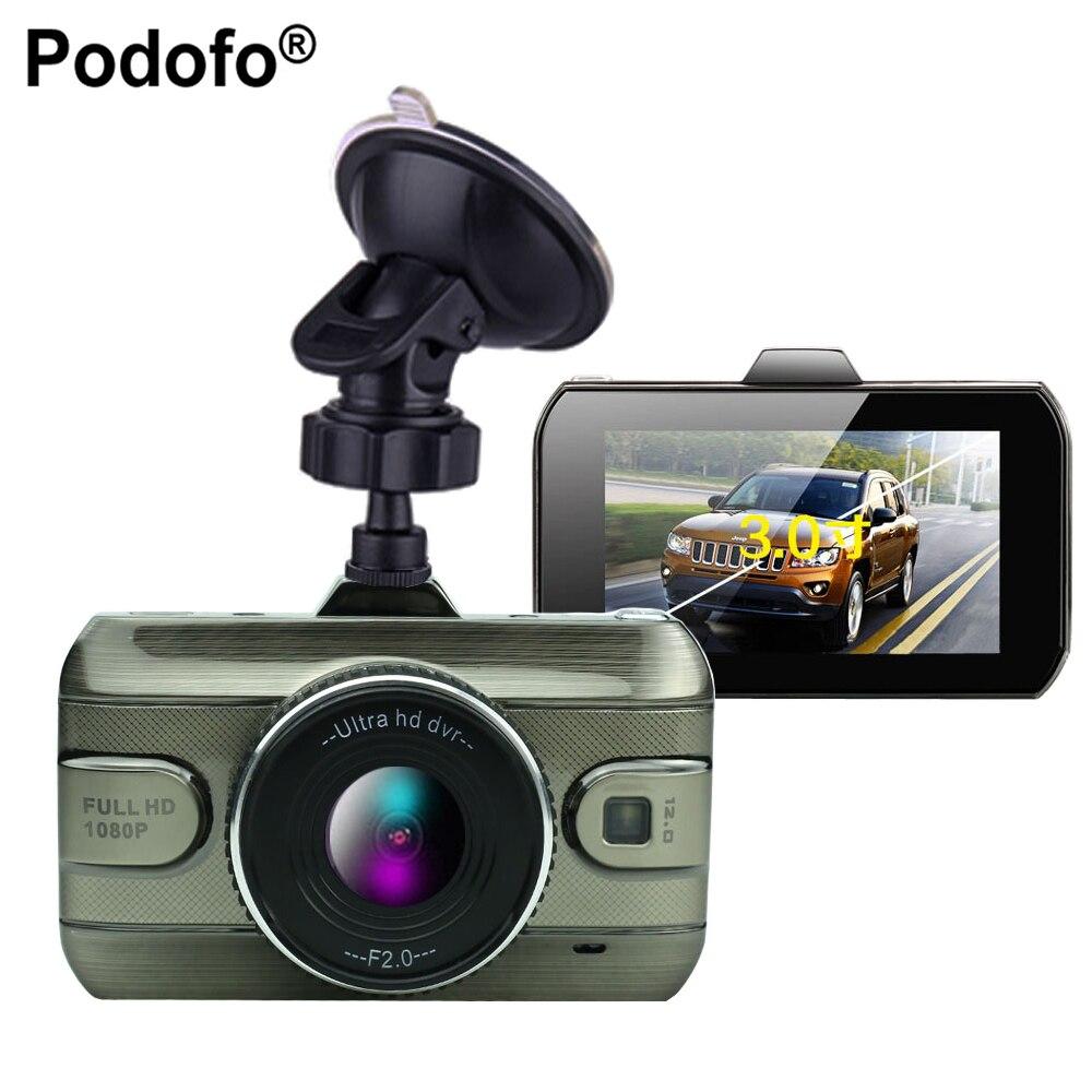Podofo 2017 Nouveau 3 Pouce Voiture Dvr Caméra Pleine HD1080P Voiture vidéo Enregistreur Enregistrement En Boucle Dash Cam Nuit Vision Voiture Caméra DashCam