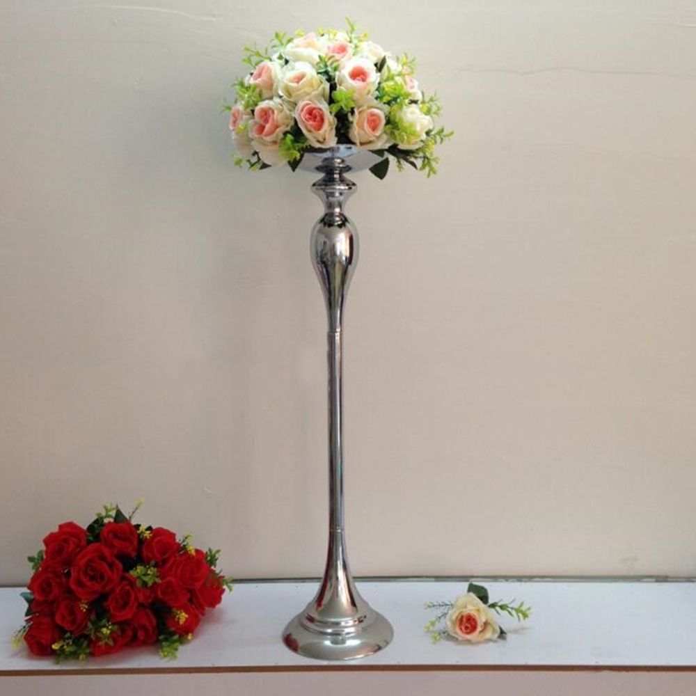 New arrival height cm silver wedding centerpieces vase