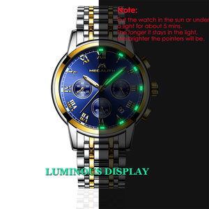 Image 3 - MEGALITH Luxury Luminous Watches Men Waterproof Stainless Steel Analogue Wrist Watch Chronograph Date Quartz Watch Montre Homme