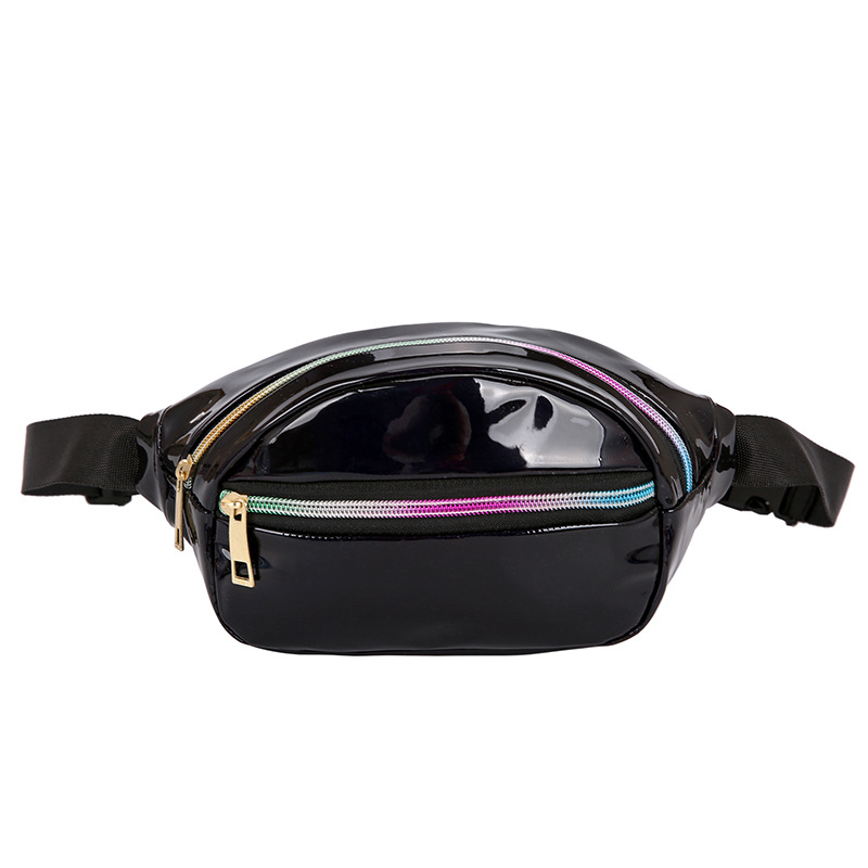 Laser Waist Bags Women Fanny Pack Belt Bags Solid Punk Holographic Bum Bags Waist Pouch 2019 New