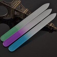 4 шт. пилочки для ногтей Прочный Кристалл Стекло Файл буфера шлифовальный наждачный маникюр устройство инструменты для дизайна ногтей