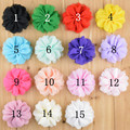 Free shipping , 50pcs/lot  DIY chiffon Bridal Flower Hair Flower