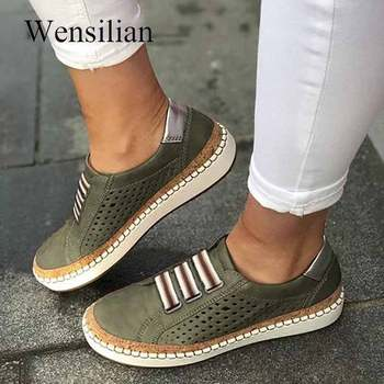Flat Shoes Women Sneakers For Women Oxford Shoes Vintage Ladies Casual Slip-on Leather Loafers Espadrilles Mocassin Femme 2020