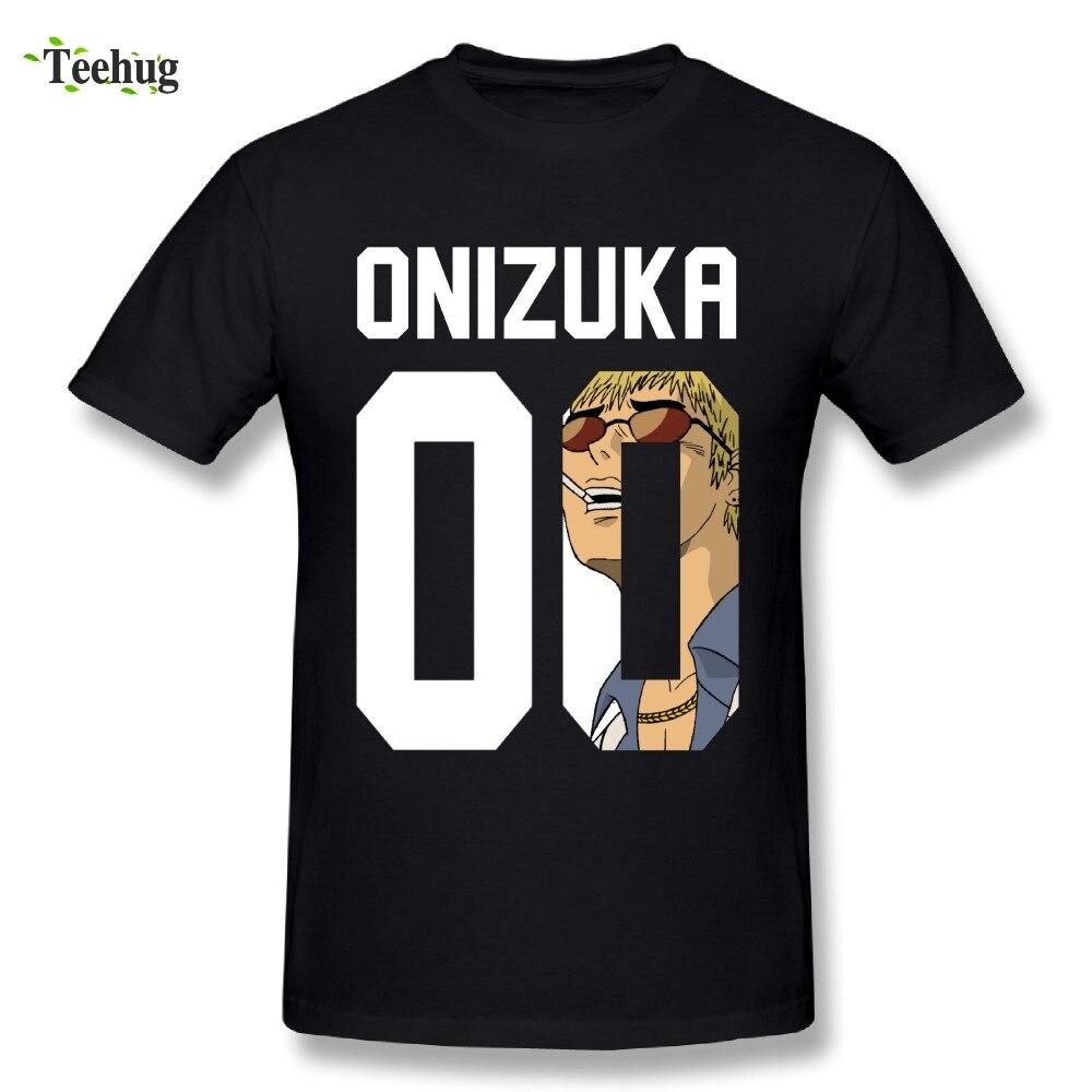 Genial Junge Große Lehrer Onizuka GTO T Shirt Rundhals Design Japanischen Anime Cool Man T-Shirts