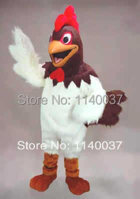 Randy Rooster Mascot kostiumas - didelis vištienos talismano - Karnavaliniai kostiumai