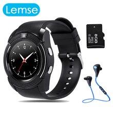 V8 Smart Uhr Quad-band Aufruf Uhr MTK6261 Bluetooth Anruf Benachrichtigung Mit Kamera Smartwatch Für Android IOS