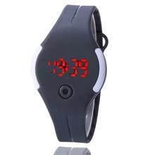 Синий шопе #4004 Женские Резиновые LED Watch Дата Спорт Браслет Наручные Часы