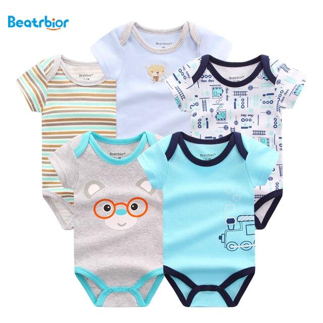 f8fce7b35b064 2018 bébé garçon fille vêtements nouveau Style 100% coton mignon bébé  barboteuses pour nouveau-