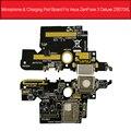 Микро USB зарядное устройство порт плата для ASUS Zenfone 3 Deluxe ZS570KL USB разъем для зарядки с микрофоном Jack Плата запасные части