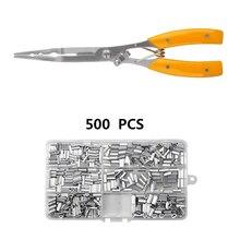 Pince à pêche en acier inoxydable, ciseaux coupe ligne de poisson, ciseaux pour Mini crochet de poisson, outils multifonctions à manches de sertissage