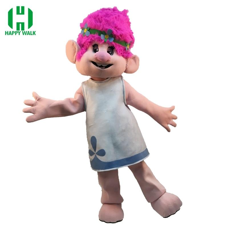 Nový Hot Mascot kostým - Trolls-Kompletní oblečení pro dospělé - Maskot Parade Kvalitní klaun Narozeniny Troll